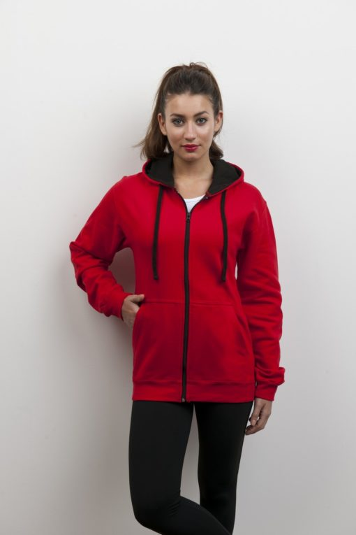 Leavers two tone zipped Hoodie