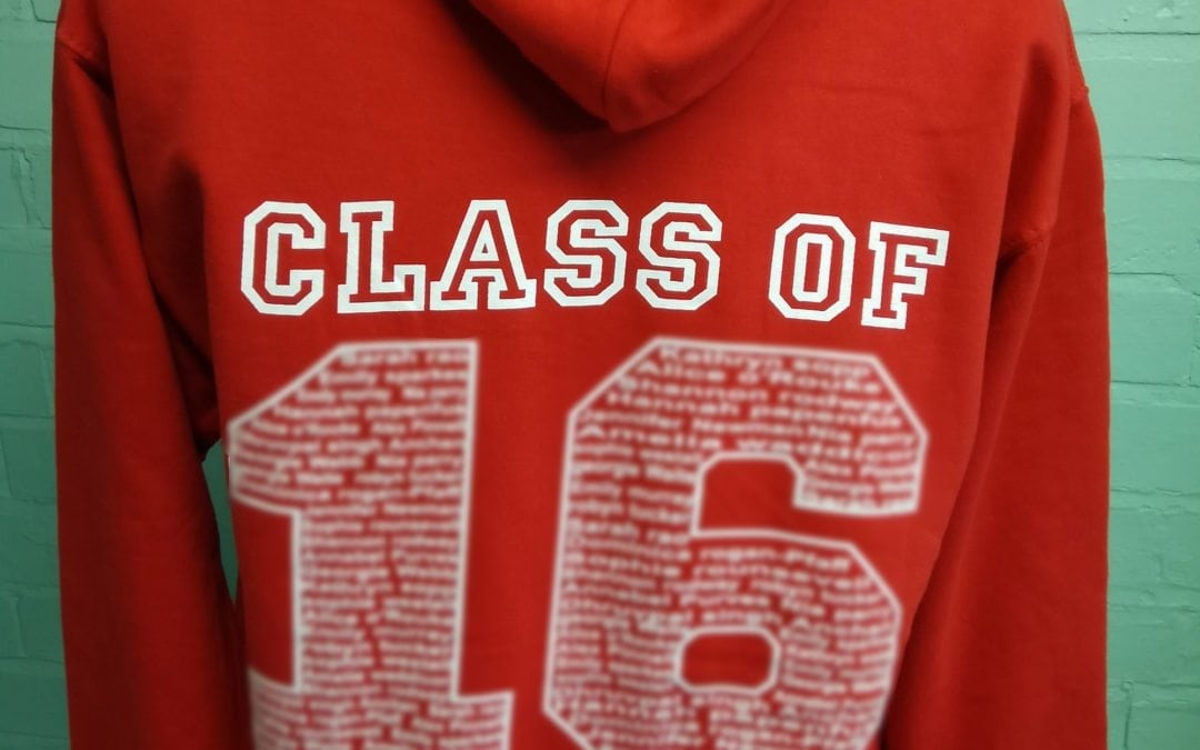 Hartpury College Red Personalised Leavers Hoodies