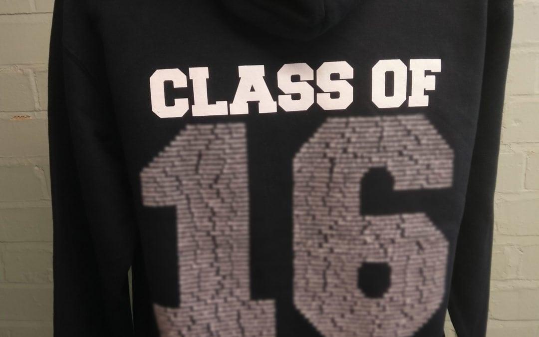 Class of 2016 Black Leavers Hoodies
