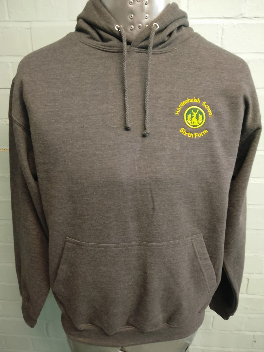 Dark Grey Marl Leavers Hoodies Printed