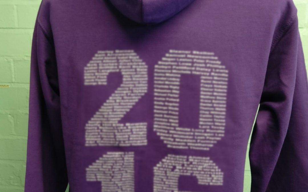 Alcester Grammar School Bright Purple Personalised Leavers Hoodies