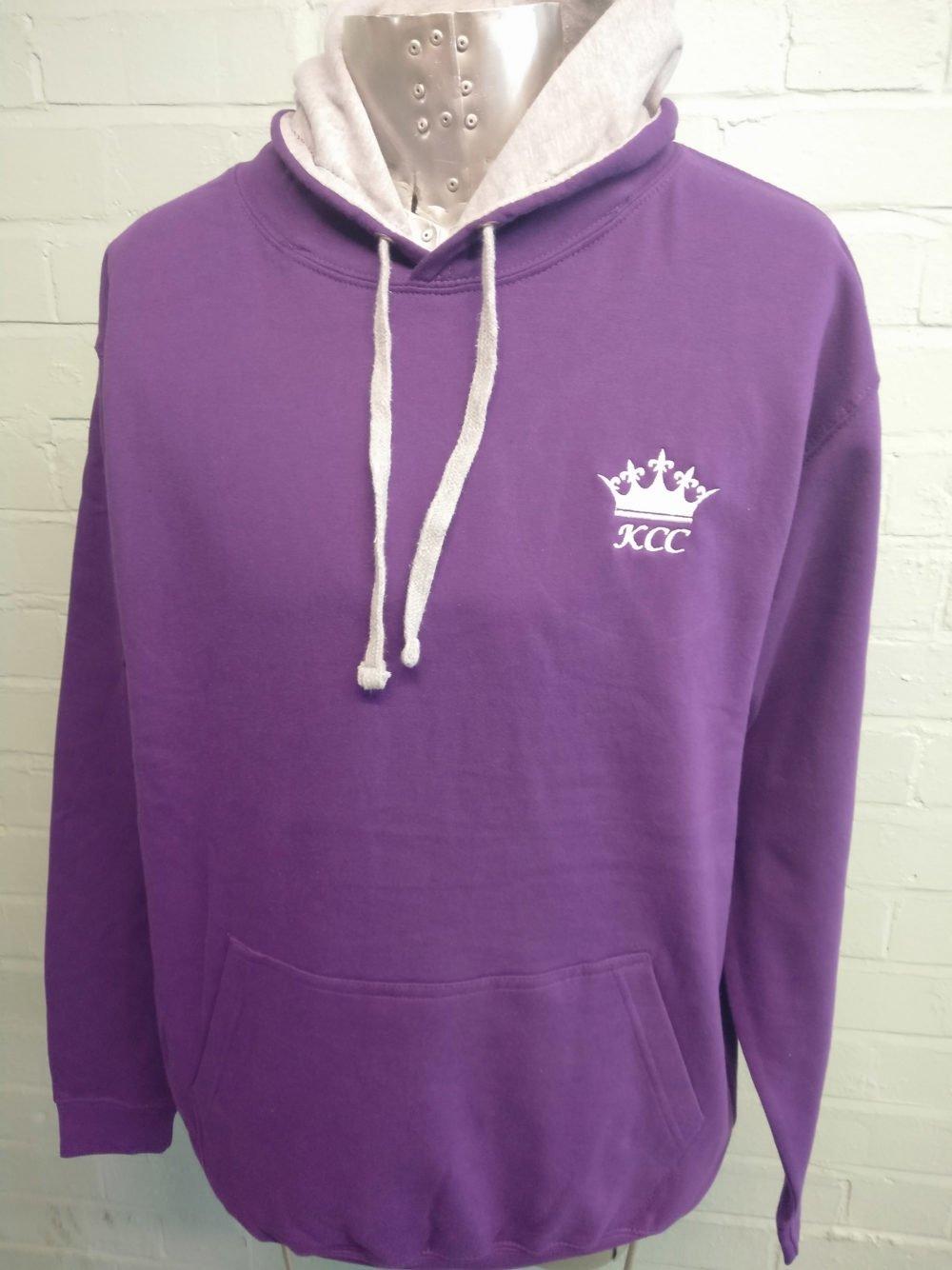 Purple 2 Colour Leavers Hoodies