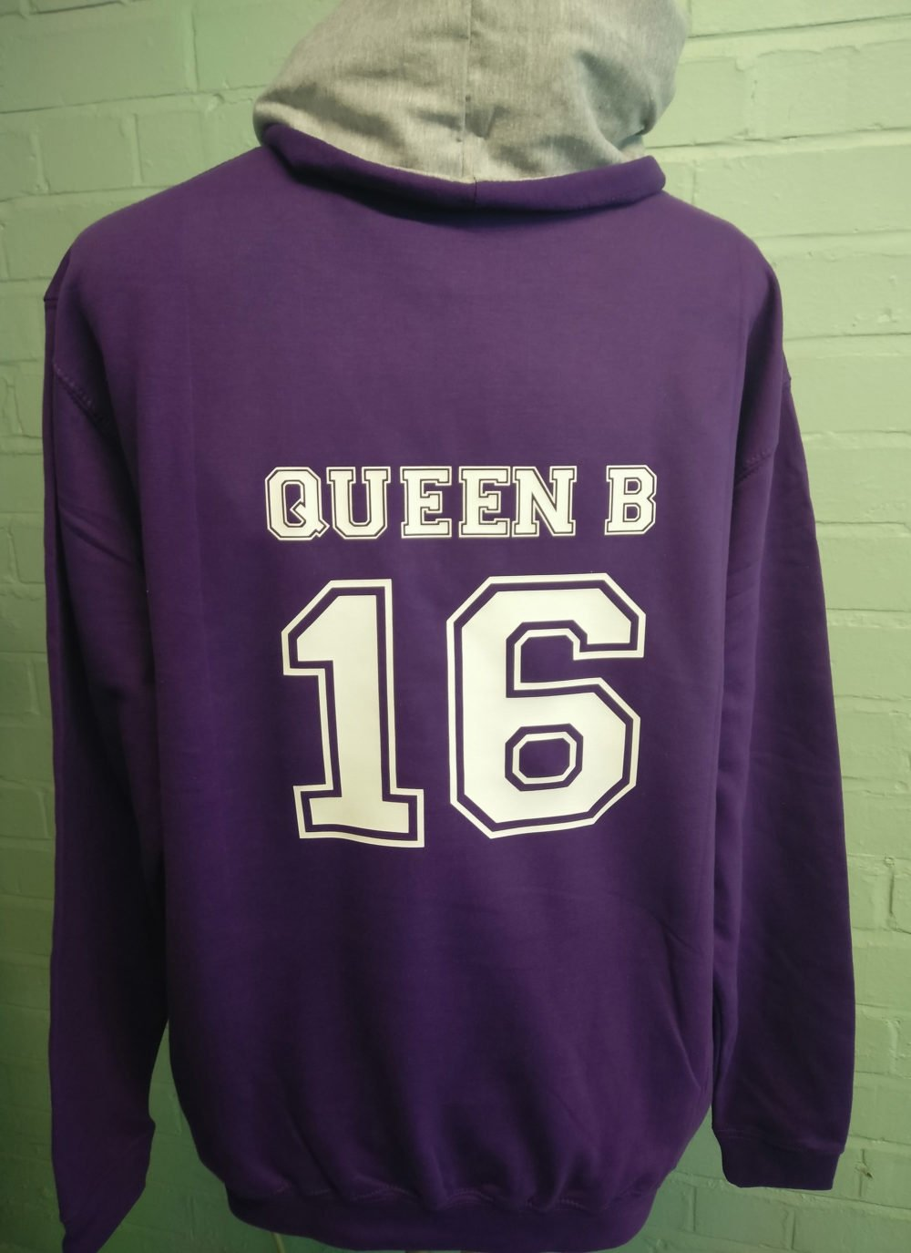Purple 2 Colour Leavers Hoodies
