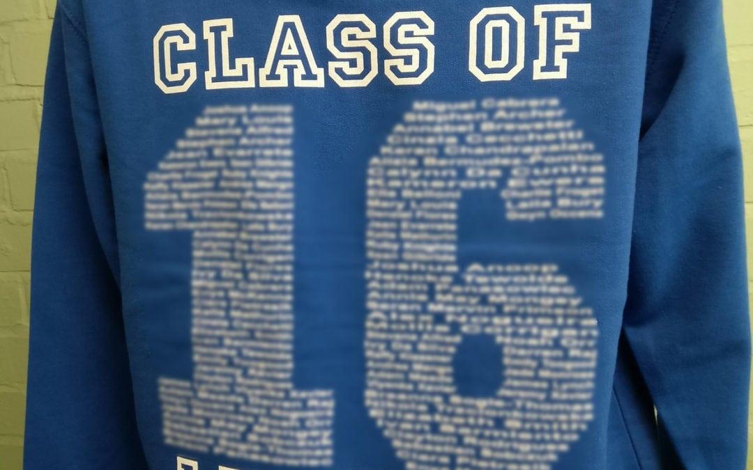 St Boniface RC Primary School Blue Personalised Leavers Hoodies