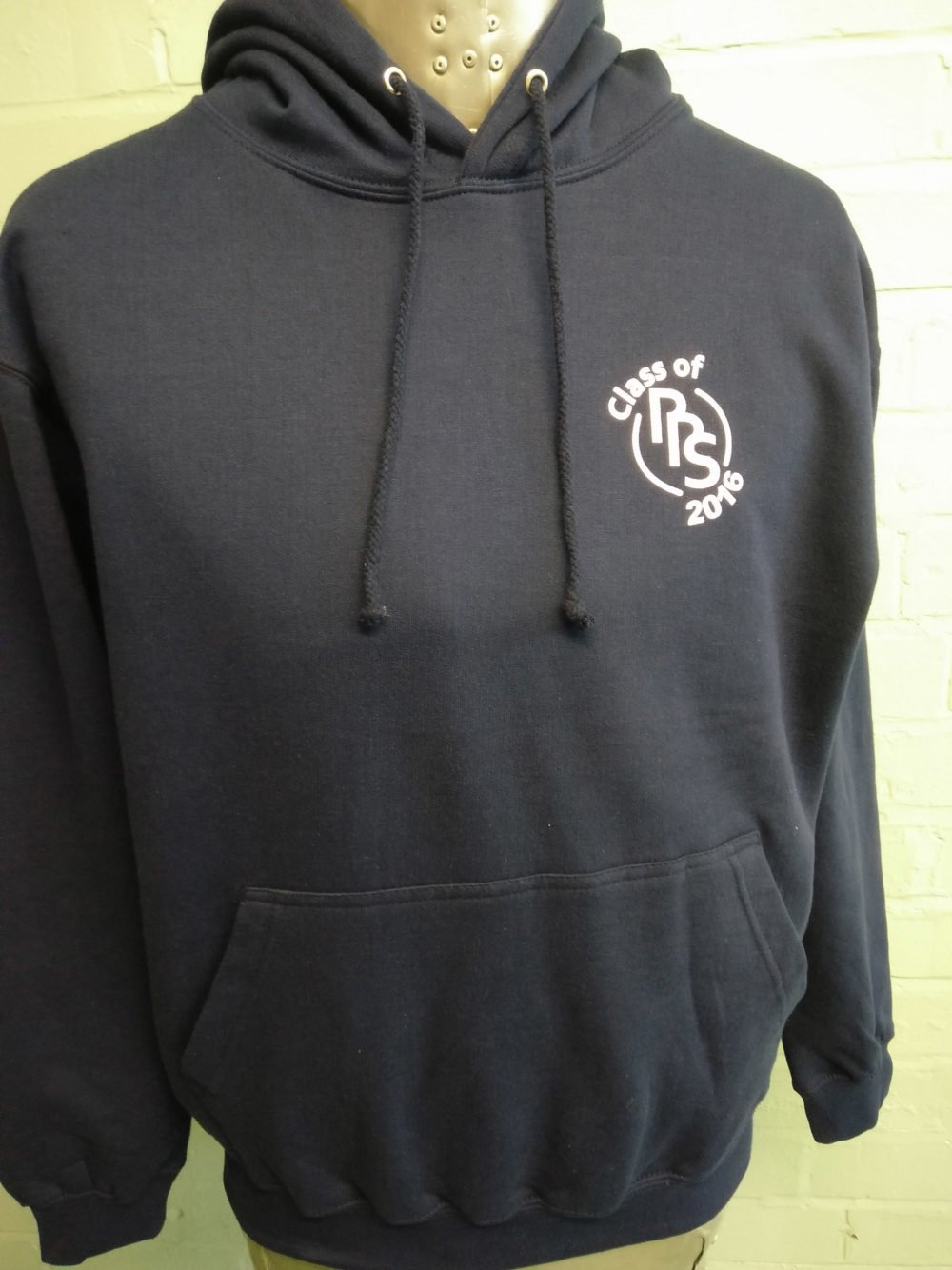 RRS Class of 2016 Black Leavers Logo Print Hoodie
