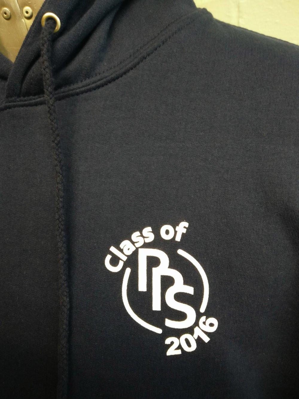 RRS Class of 2016 Black Leavers Logo Print Hoodie