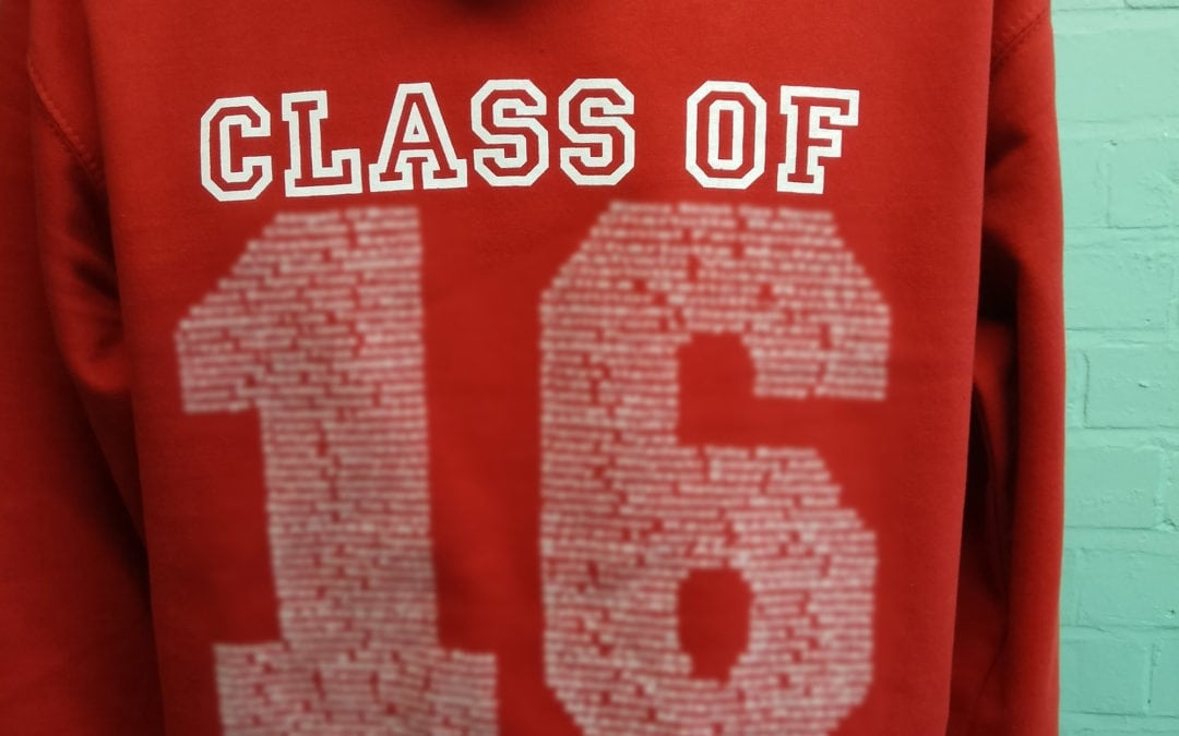 Barnsbury Primary School Class of 2016 Personalised Red Leavers Hoodies
