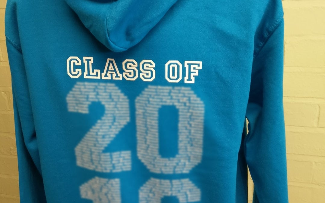 Whitehill Junior School Turquoise Blue Personalised Leavers Hoodies