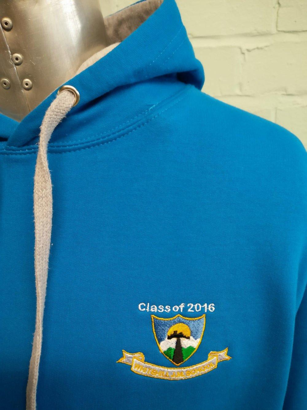 Turquoise Blue 2016 Custom Leavers Hoodies