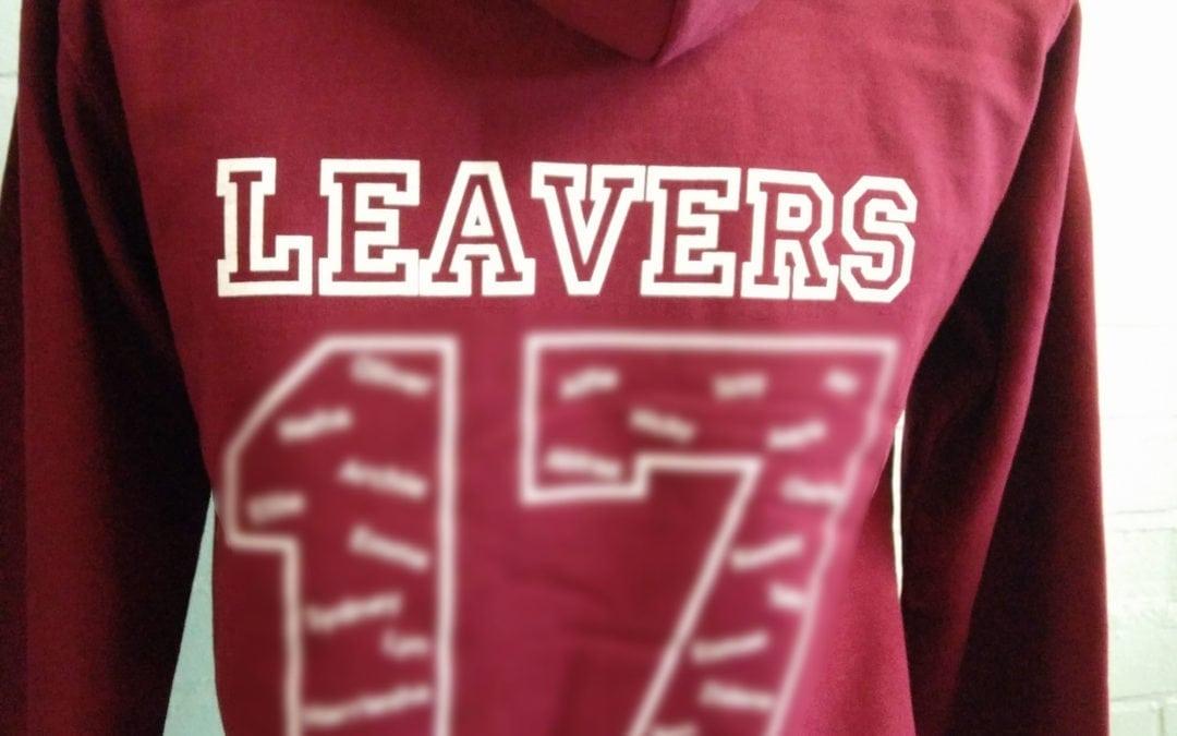 Cuddington Community Primary School Burgundy Personalised Leavers Hoodies