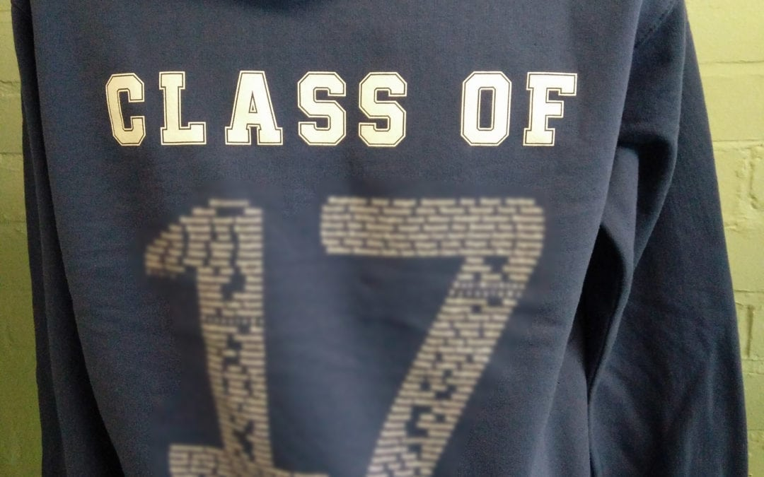 Blue Class of 2017 Leavers Hoodies