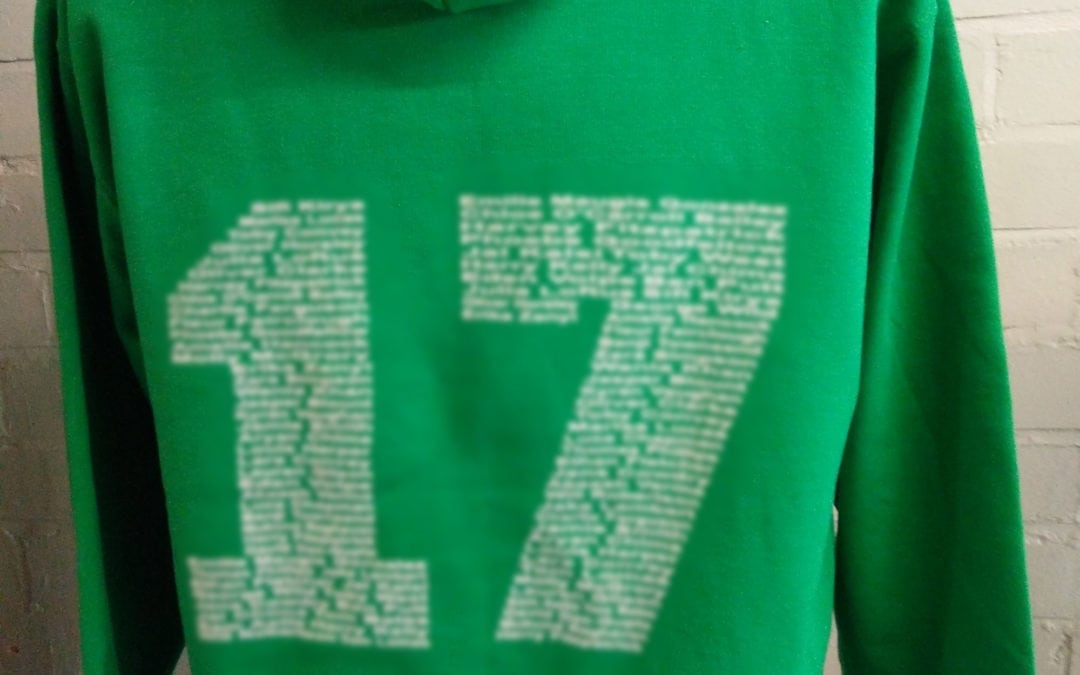 Green Class of 2017 Leavers Hoodies