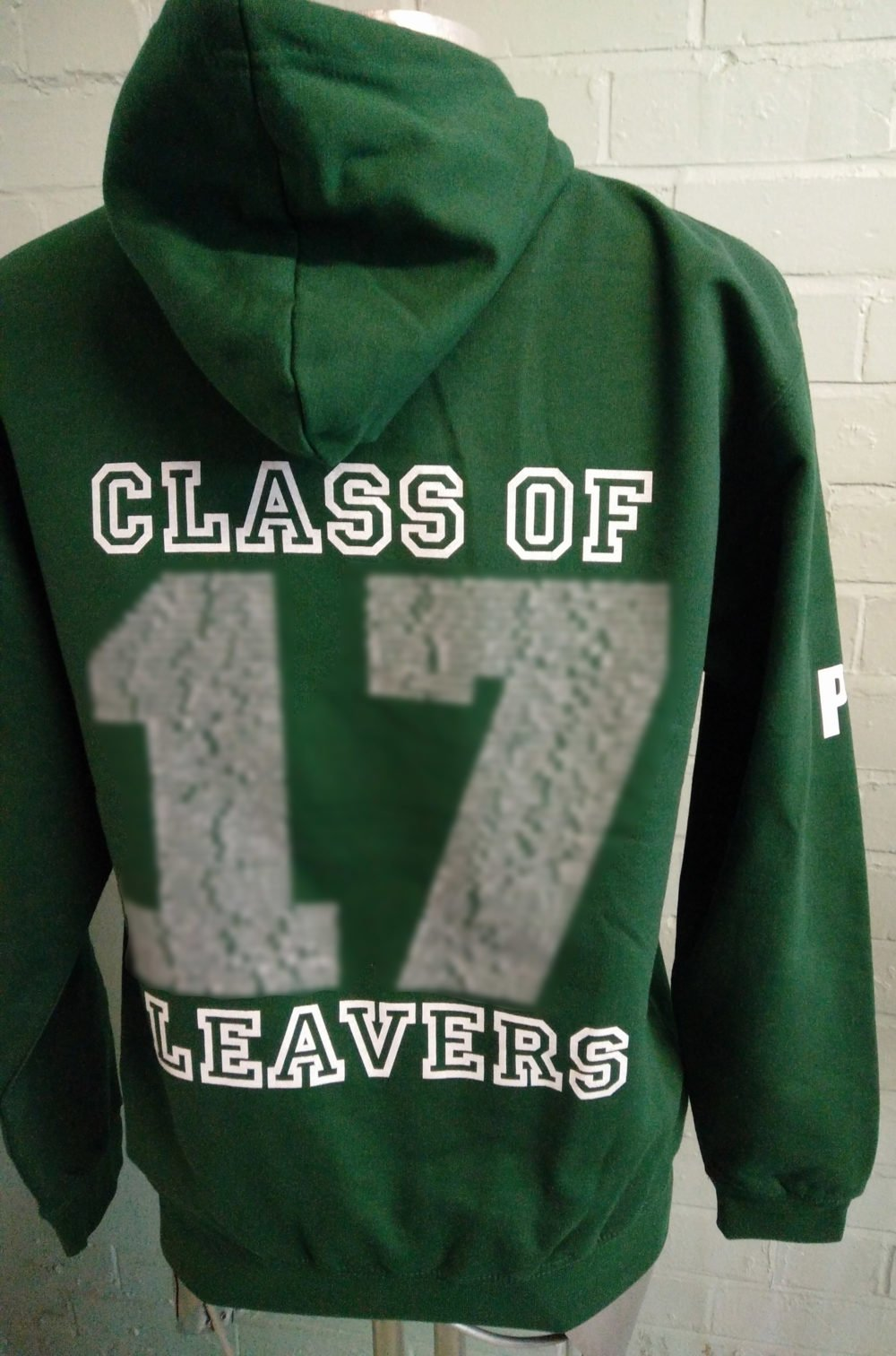 Green Leavers Hoodies 2017 with Red Hood