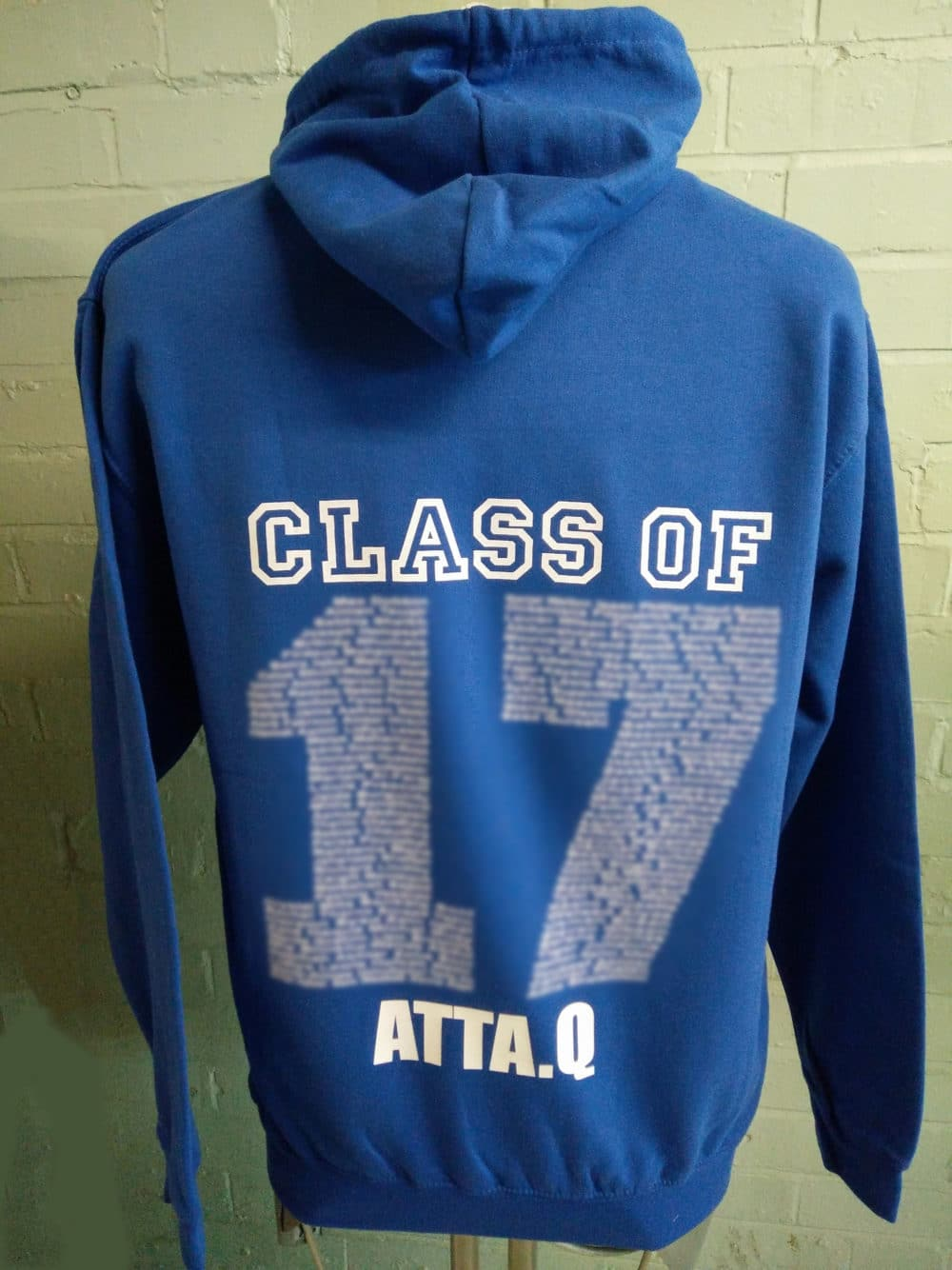 Duo Class of 2017 Blue Leavers Hoodies