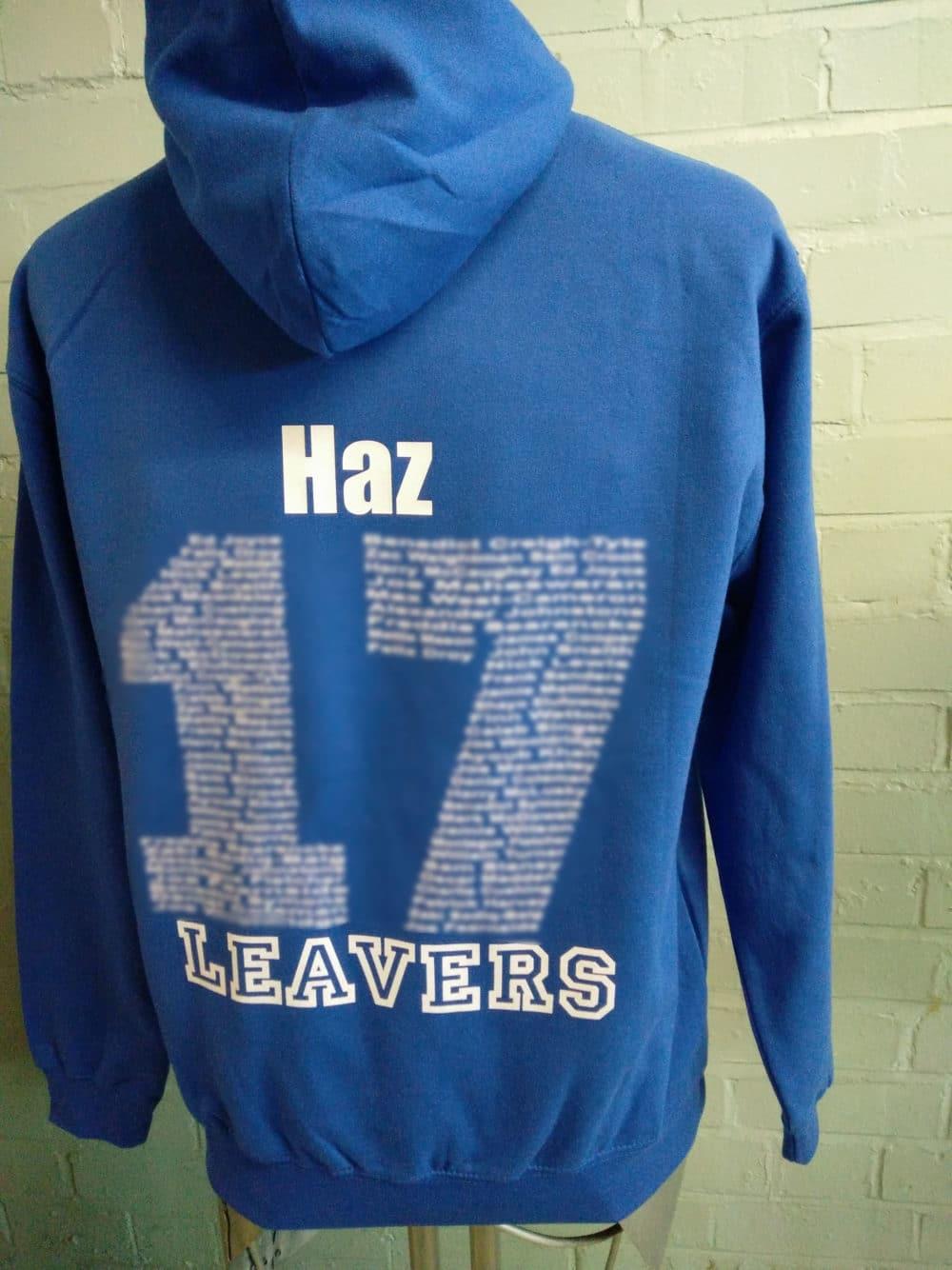 Hampton 2017 Blue Leavers Hoodies