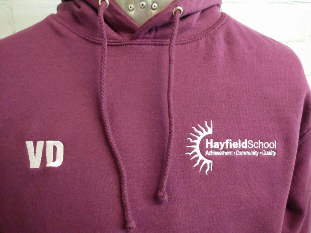Hayfield School Burgundy Leavers Hoodies