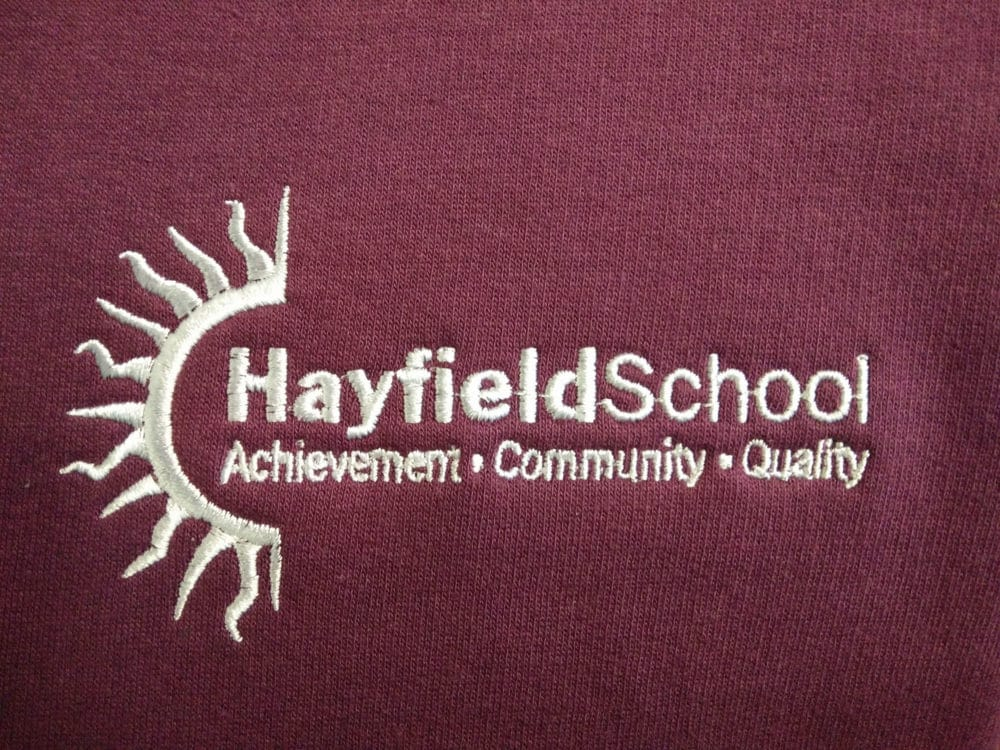 Hayfield School Burgundy Leavers Hoodies