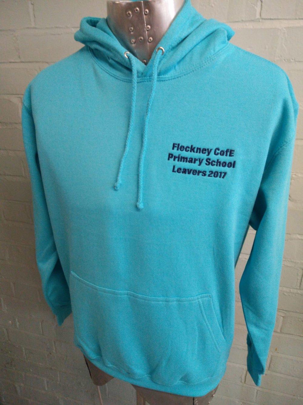 Fleckney Blue Leavers Hoodies 2017