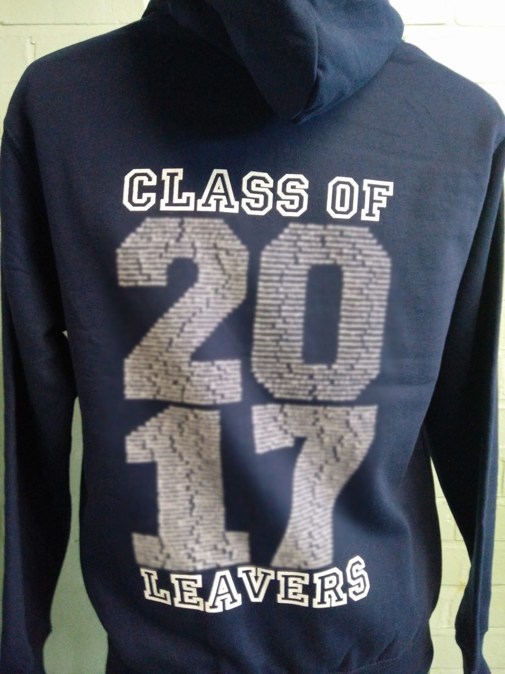 Navy Class of 2017 Printed Hoodies
