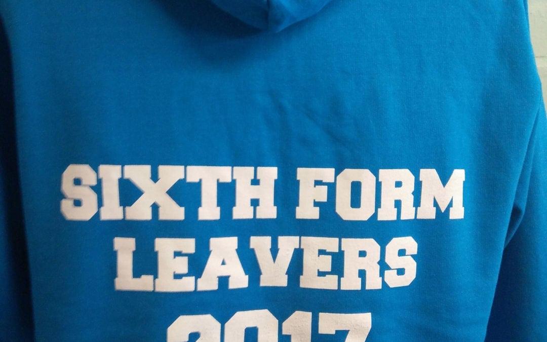 Sixth Form Leavers 2017 Blue Custom Hoodies