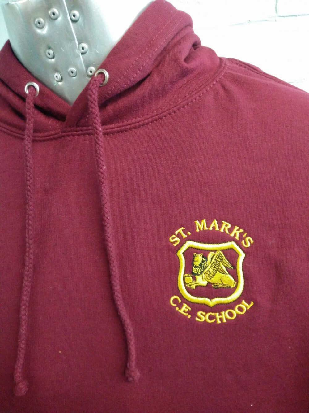 St Marks Burgundy Leavers Hoodies