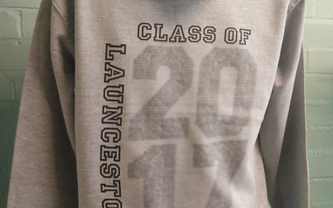 Grey Marl Custom Names Leavers Hoodies 2017