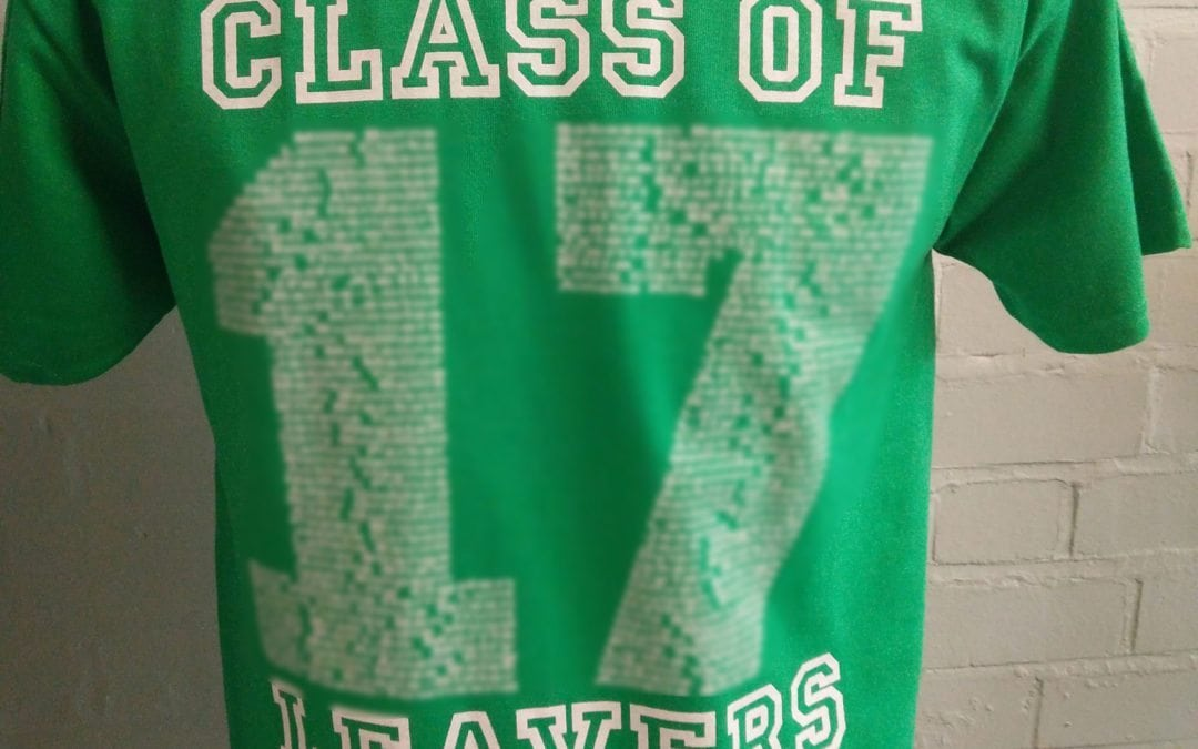 Greenside Primary School Leavers T-Shirts 2017