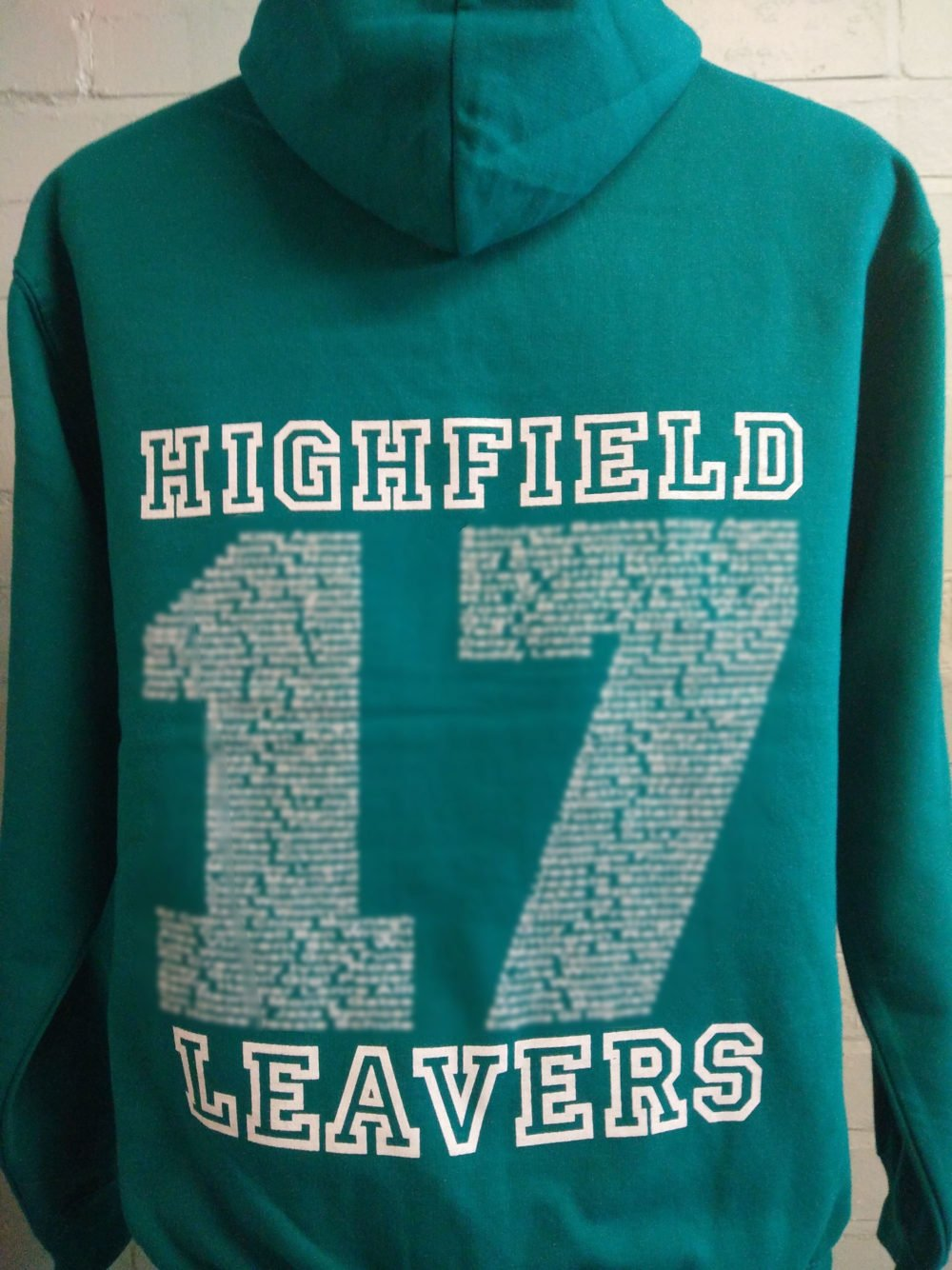 Highfield Green Leavers Hoodies 2017
