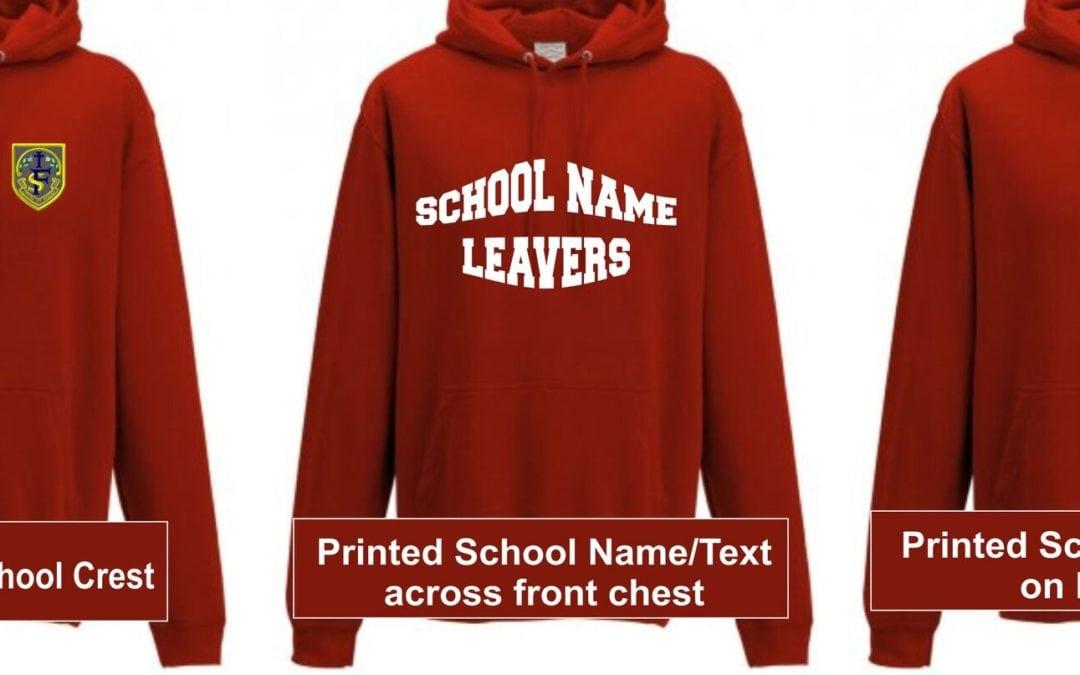 personalised school leavers hoodies