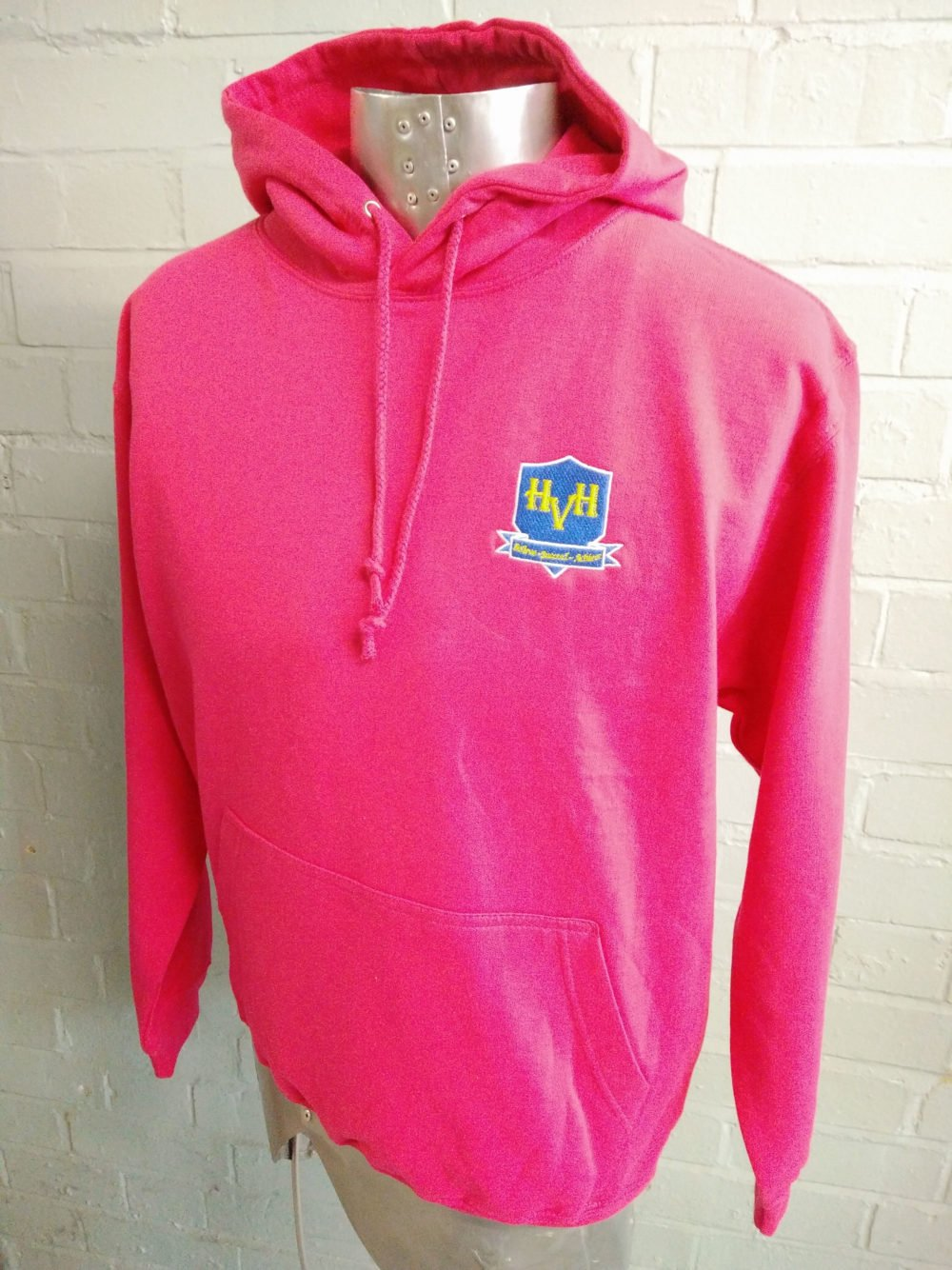 HVH Bright Pink Leavers Hoodies 2017 2