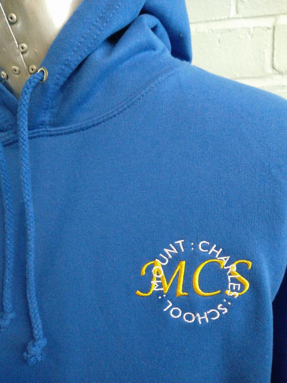 MCS Blue Custom Leavers Hoodies 2017