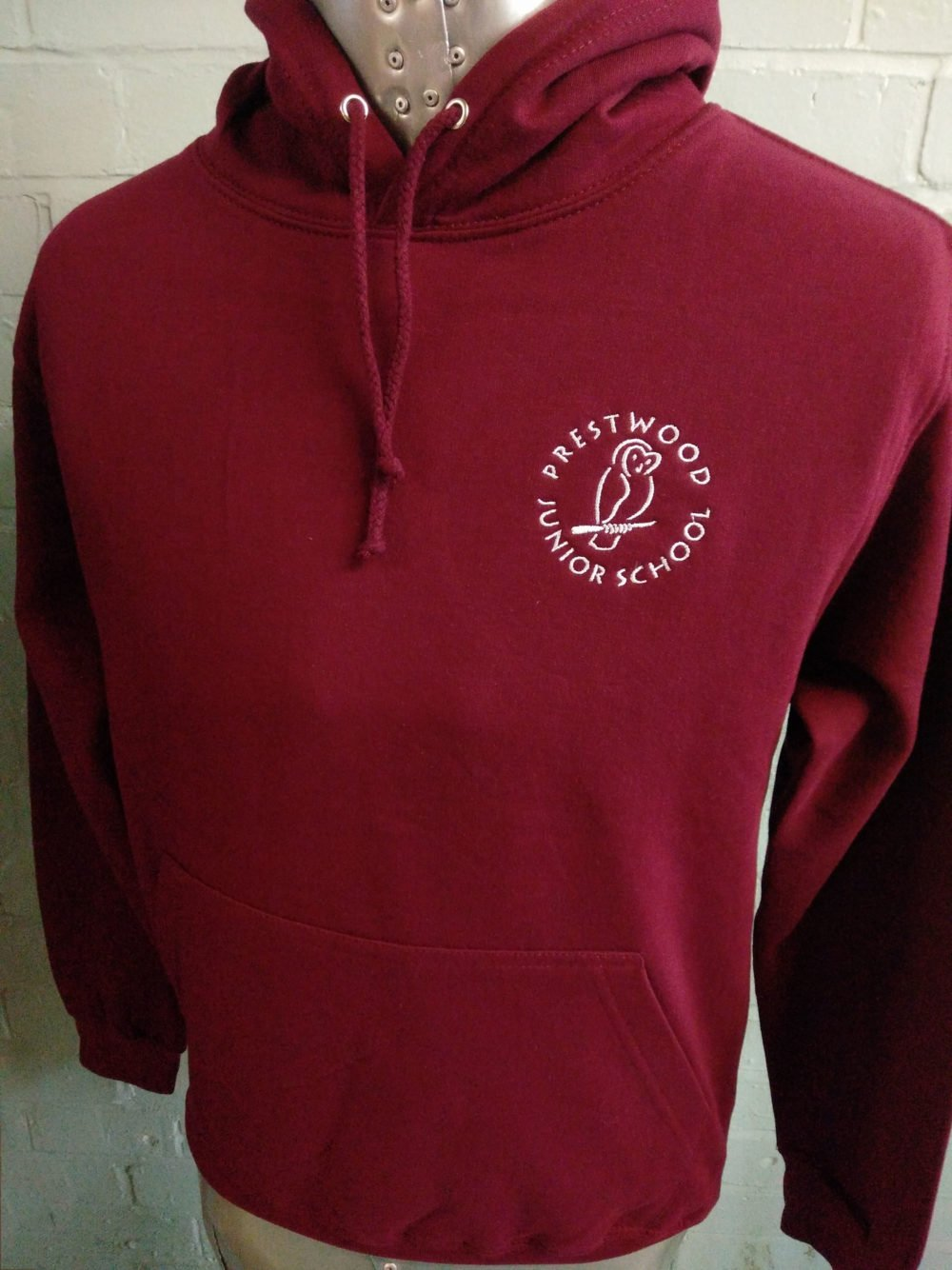 Preswood Junior Burgundy Leavers Hoodies 2017