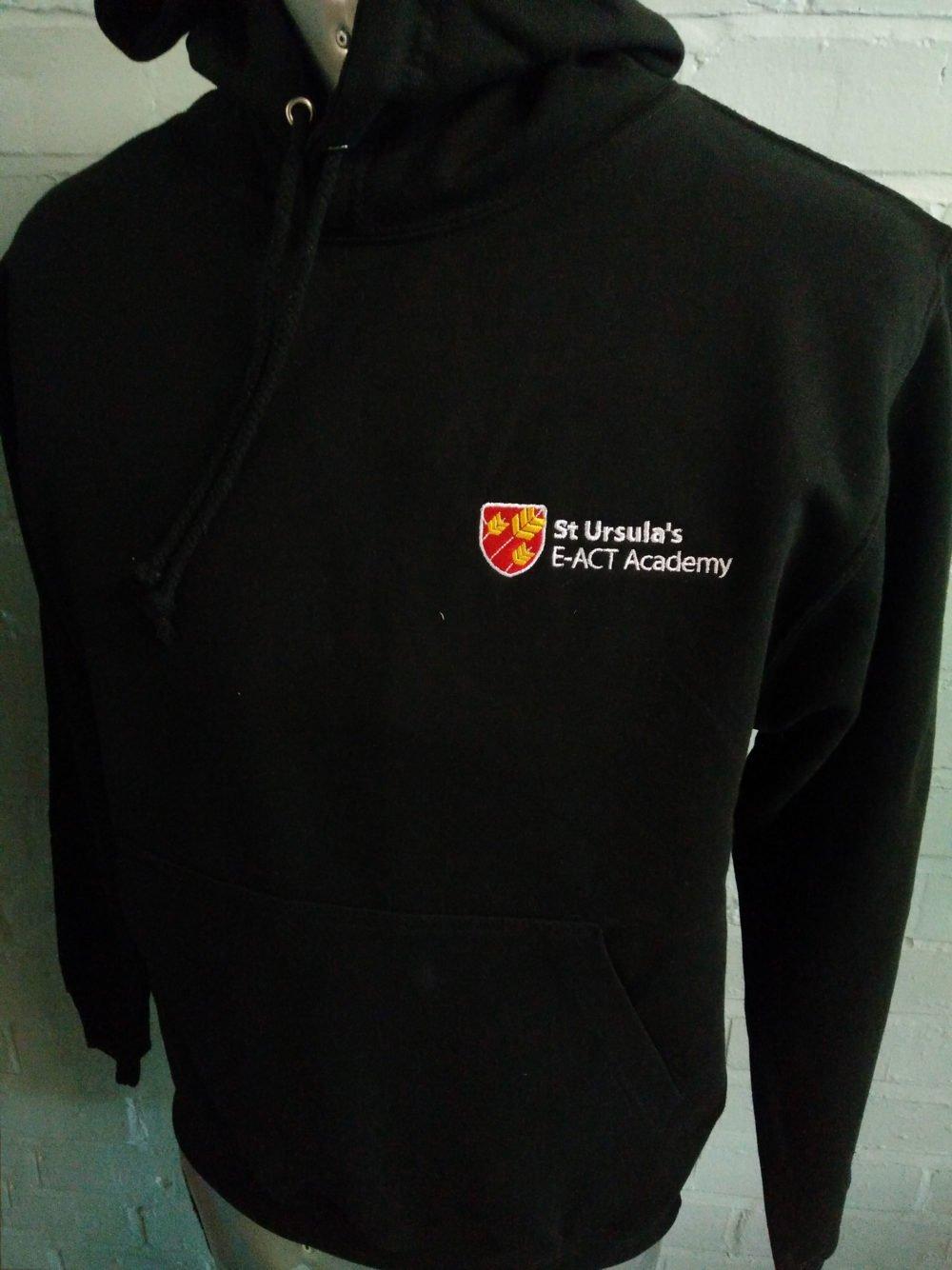 St Ursulas Academy Black Leavers Hoodies 2017