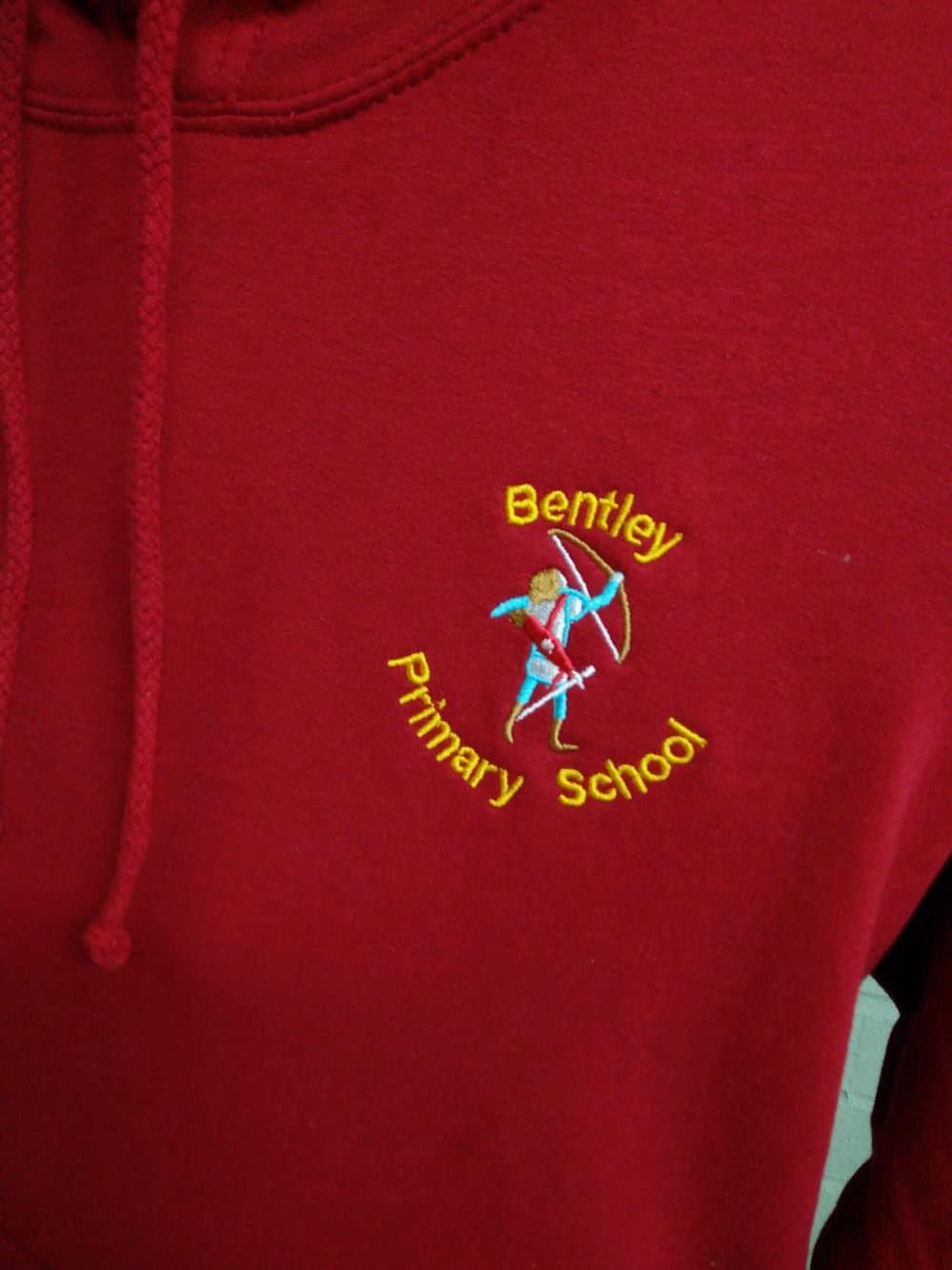 Bentley Primary Red Leavers Hoodies 2018
