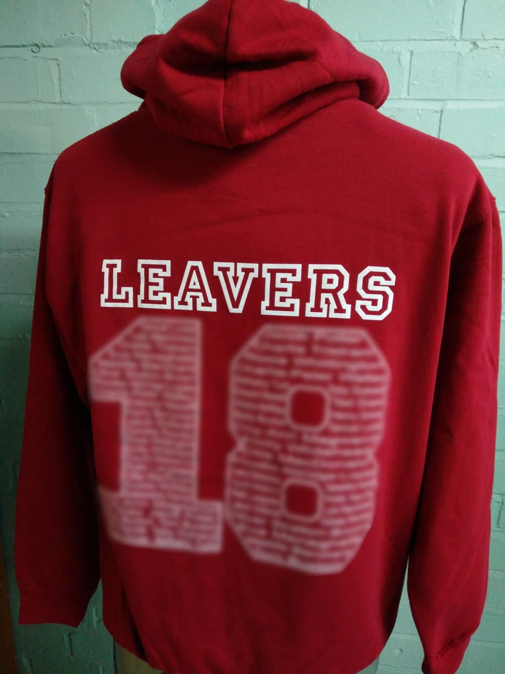 Bentley Primary Red Leavers Hoodies 2018