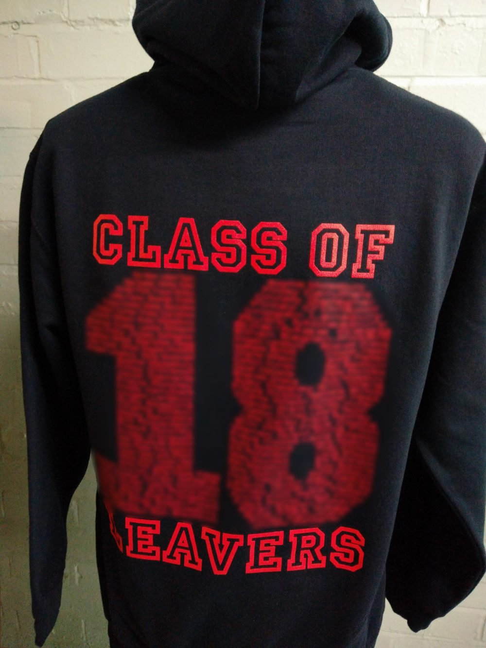 Black and Red Leavers Hoodies 2018 Set 1