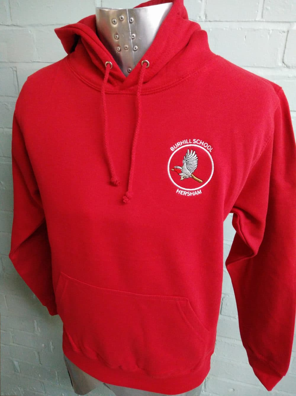 Burhill Bright Red Leavers Hoodies 2018