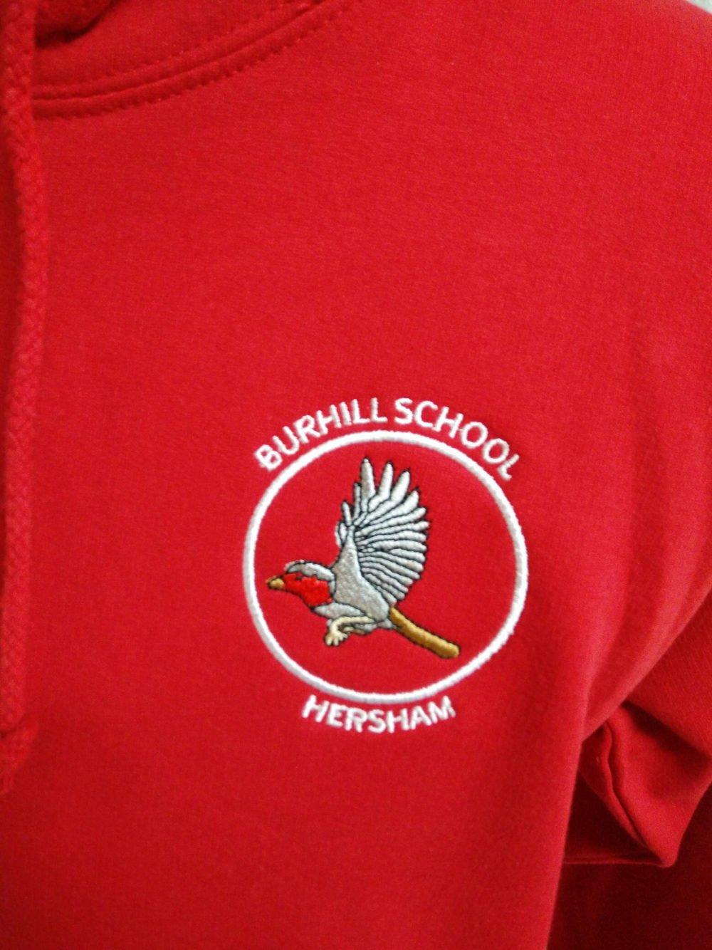 Burhill Bright Red Leavers Hoodies 2018