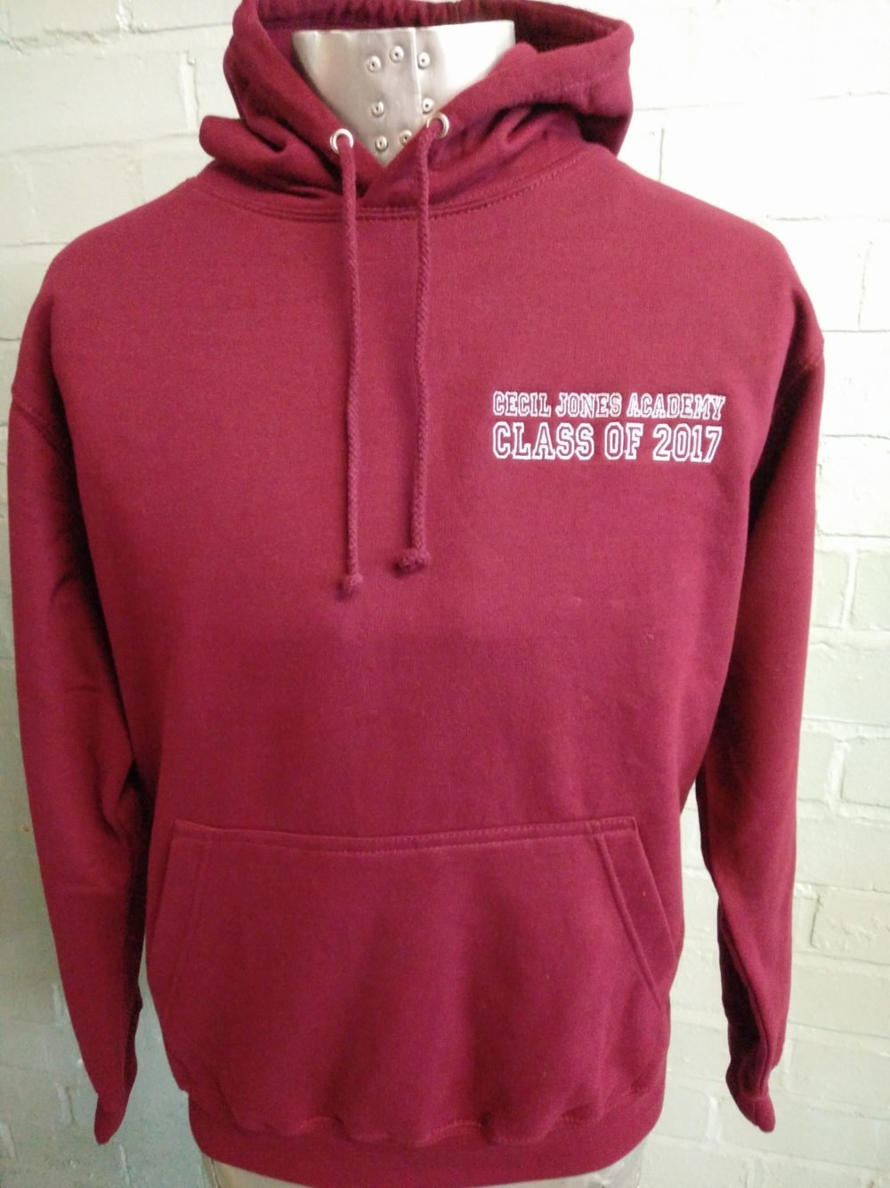 Cecil Jones Burgundy Leavers Hoodie 2017