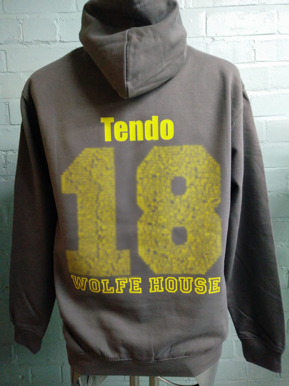 Grey and Yellow Leavers Hoodies Class of 2018