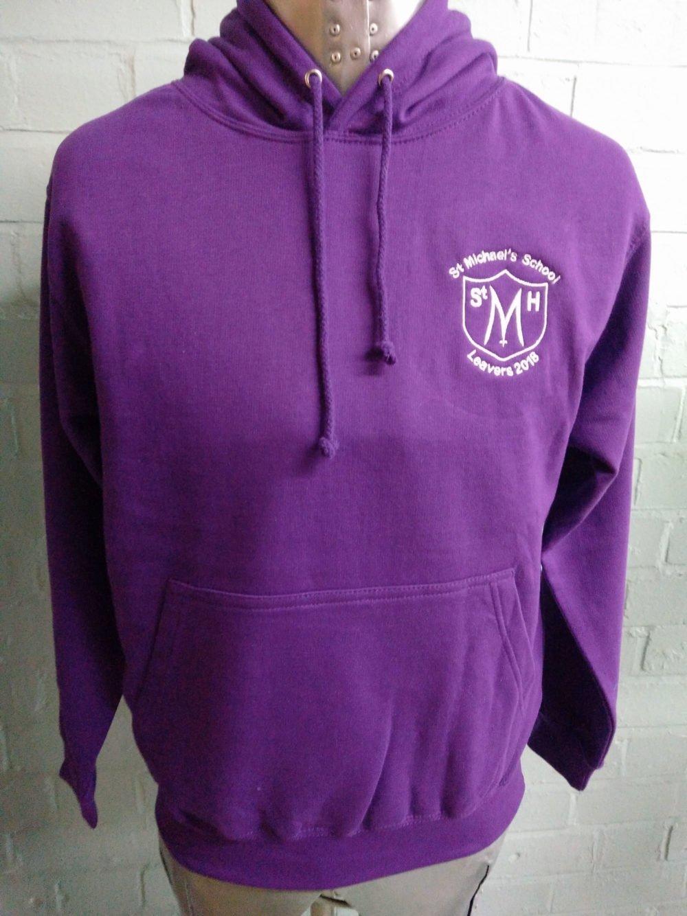 Purple Leavers Hoodies Class of 2018