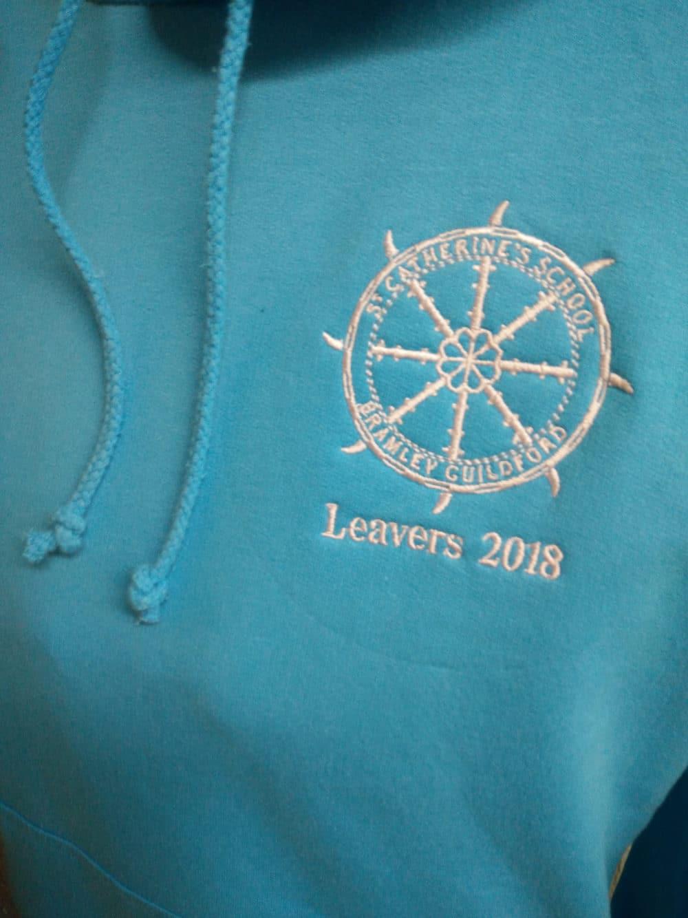 St Catherines Light Blue Leavers Hoodies 2018