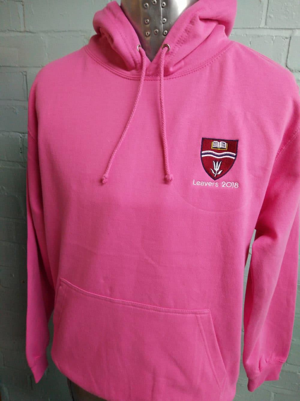 Bright Pink Leavers Hoodies 2018 Class