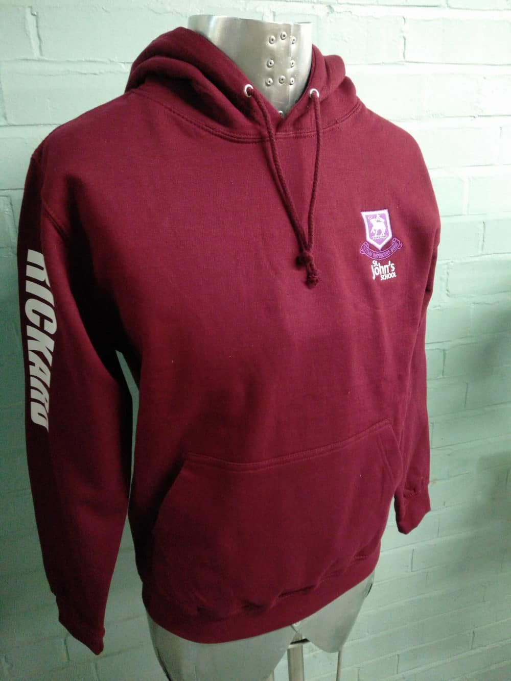 St Johns Burgundy Leavers Hoodies 1