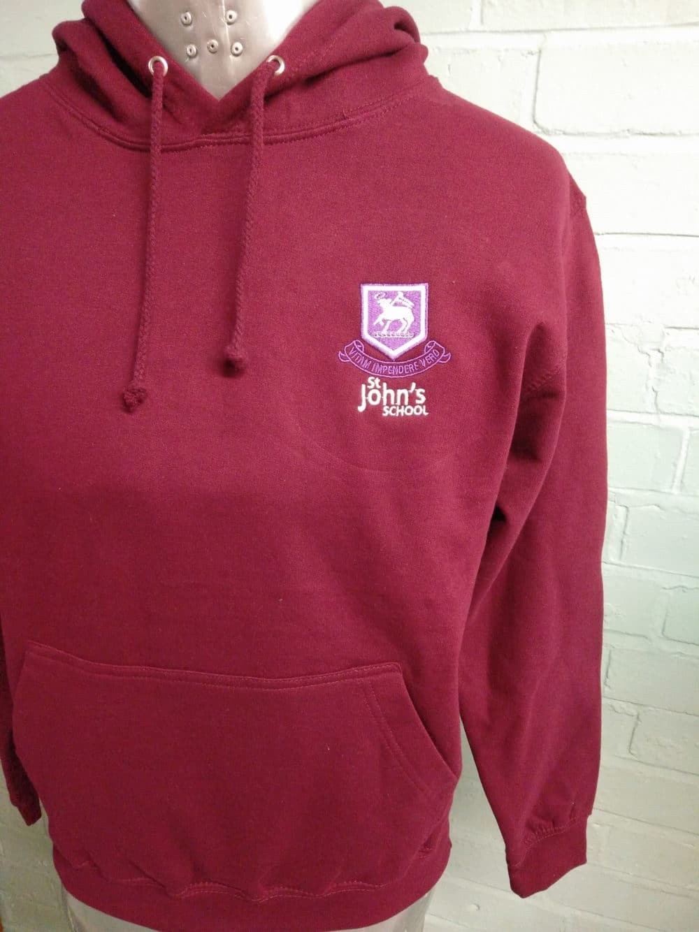 St Johns Burgundy Leavers Hoodies 3