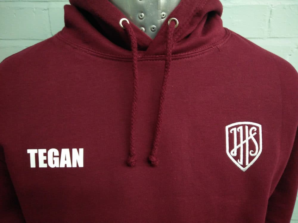Burgundy Class of 2018 Leavers Hoodies Leicestershire