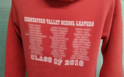 HVH Orange Duo Leavers Hoodies Custom Printed Class of 2018