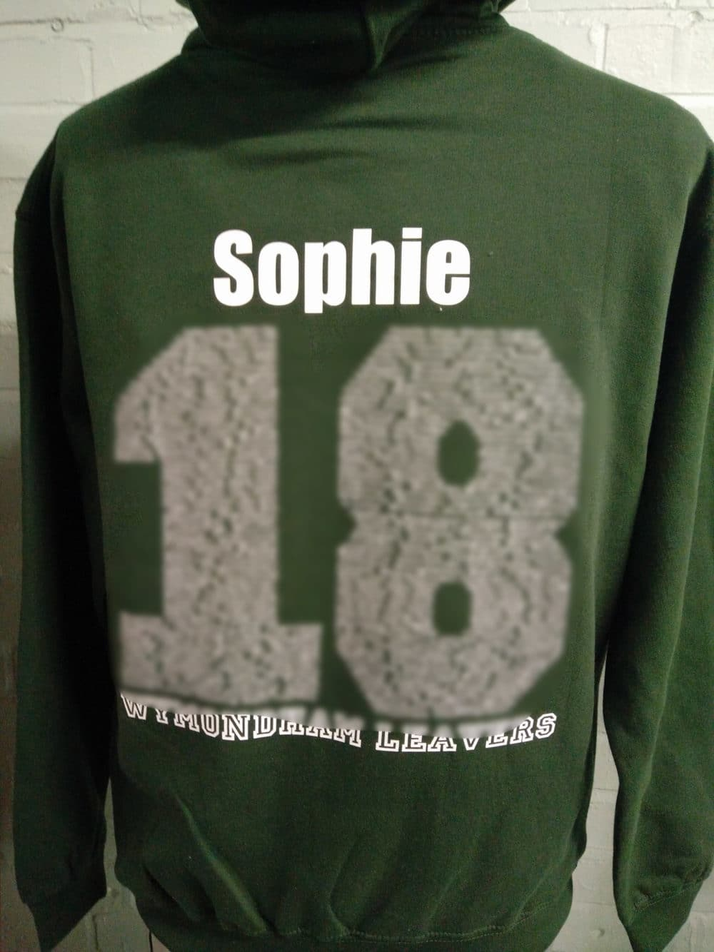 WH Class of 2018 Leavers Hoodies in Khaki Green