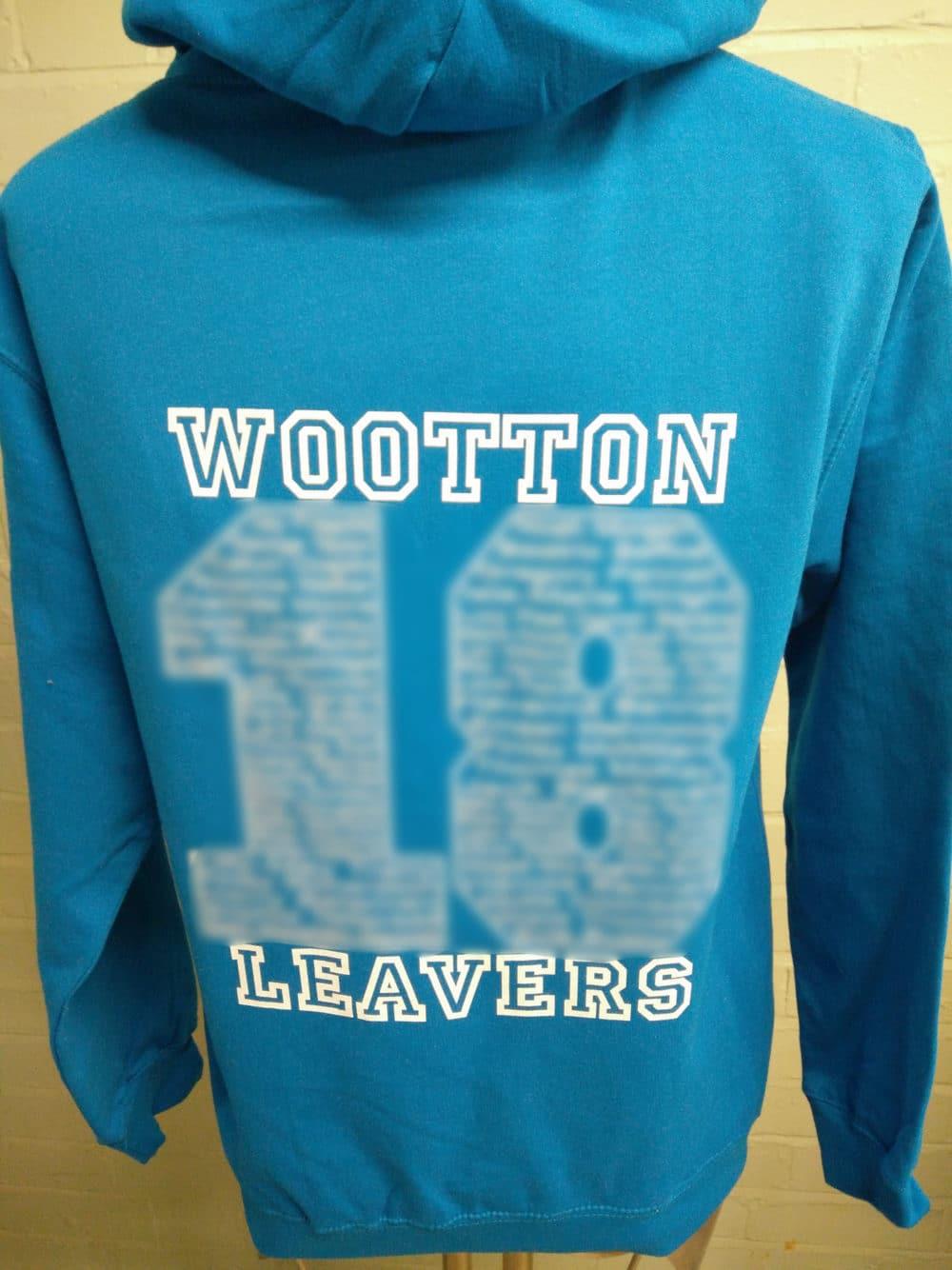 Wootton Primary School Blue Custom Printed Leavers Hoodies 2018 2