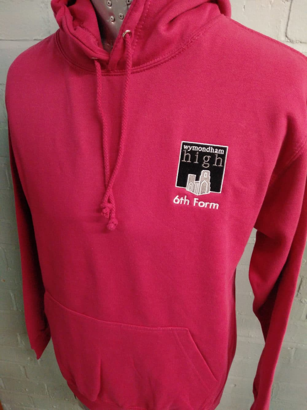 Wymondham Pink Leavers Hoodies Class of 2018 Custom Printed